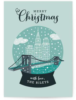 NYC Snow Globe Holiday Non-Photo Cards