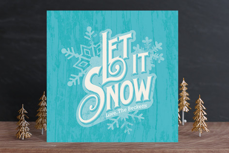 Vintage Snowflakes Holiday Cards