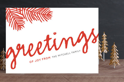Greetings of Joy Holiday Cards