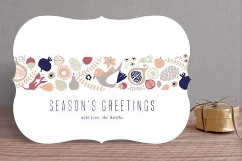 Botanical Holiday Strip Holiday Cards