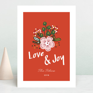 Be Merry Bouquet Holiday Cards