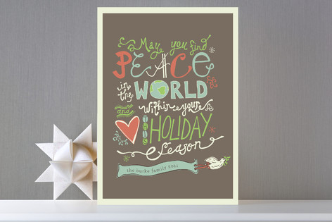 Love and Peace Eternal Holiday Cards