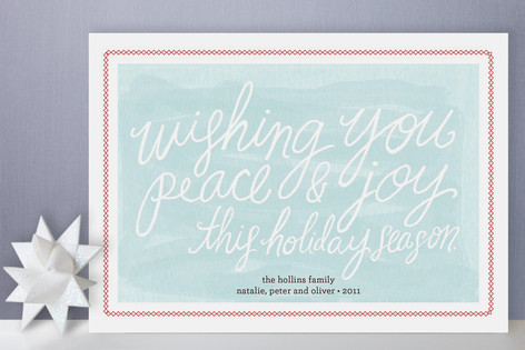Wishing Script Holiday Cards