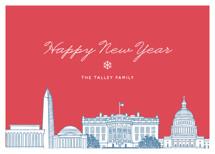 Big City - Washington DC Holiday Non-Photo Cards