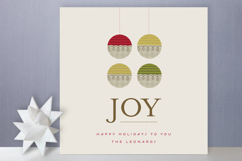 Organic Ornament Holiday Cards