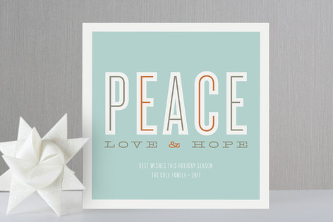 Peace Love & Hope Holiday Cards