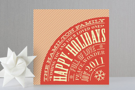 Vintage Typography Poster Holiday Cards