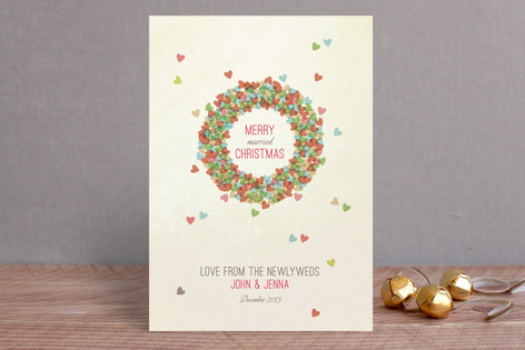 Married Wreath Holiday Cards