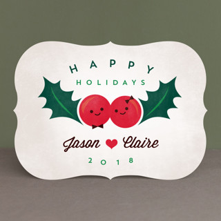 Happy Holly Holiday Cards