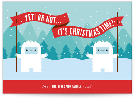 Yeti or Not Holiday Non-Photo Cards