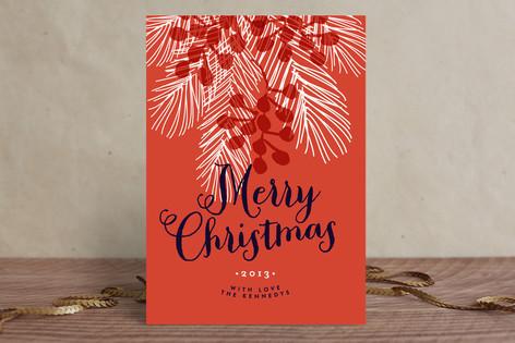 Xmas Tree & Berries Holiday Cards