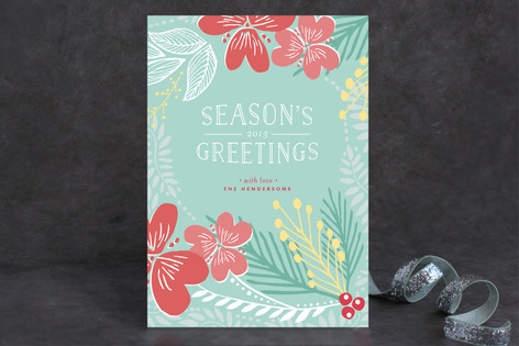 Floral Addict Greetings Holiday Cards