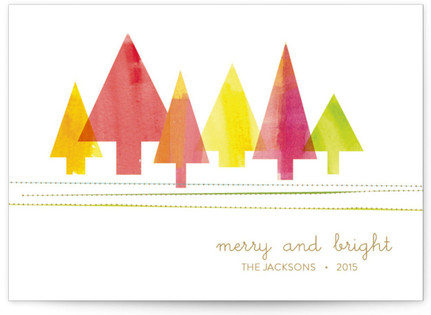 Painted Pines Holiday Non-Photo Cards