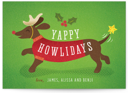 Reindeer Pup Holiday Non-Photo Cards