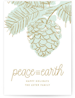 Peaceful Pine Holiday Non-Photo Cards