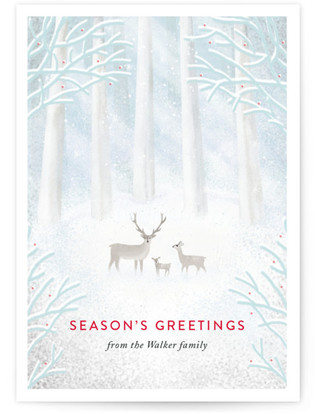 Winter Trio Holiday Non-Photo Cards