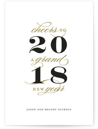 Grand New Year Holiday Non-Photo Cards