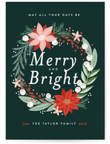 Merry and Bright Floral Wreath