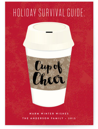 Cup of Cheer Holiday Non-Photo Cards