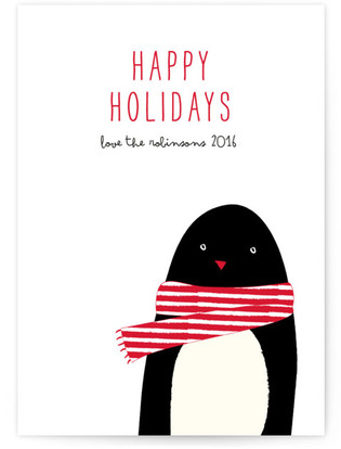 Cozy penguin Holiday Non-Photo Cards