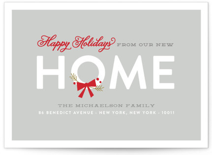 Merry Home Holiday Non-Photo Cards
