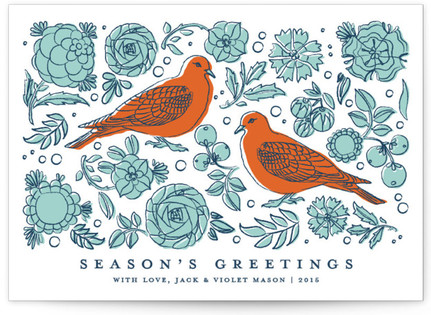 Turtle Doves Holiday Non-Photo Cards