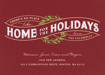 There's no Place Like Home Holiday Non-Photo Cards
