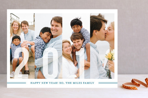 Frosted Windows New Year Photo Cards
