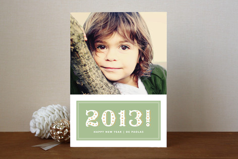 Sparkling New Year New Year Photo Cards