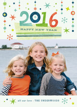 Retro Flair New Year's Photo Cards
