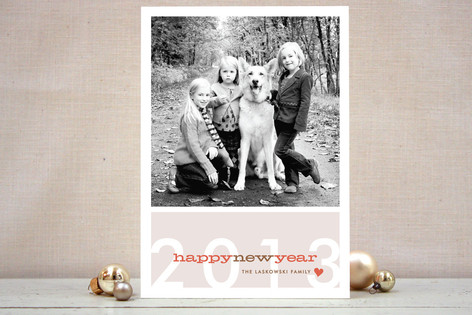 Modern Bright New Year New Year Photo Cards