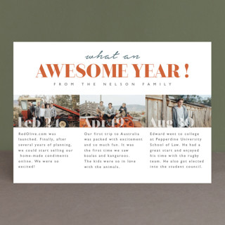 What an awesome year New Year Photo Cards