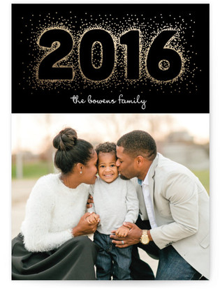 Bubbly New Year's Photo Cards