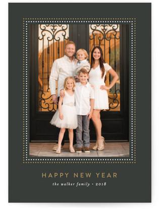 Glitz New Year's Photo Cards