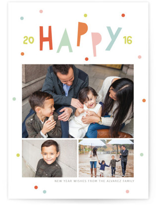 happy + bright new year New Year's Photo Cards