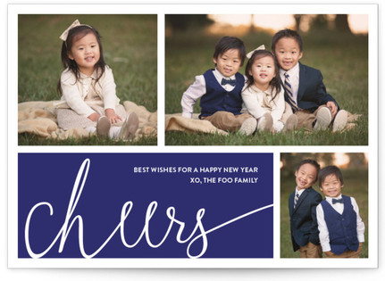 Simplified Cheers New Year's Photo Cards