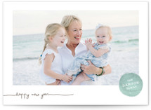 Frosted Watercolor New Year Photo Cards