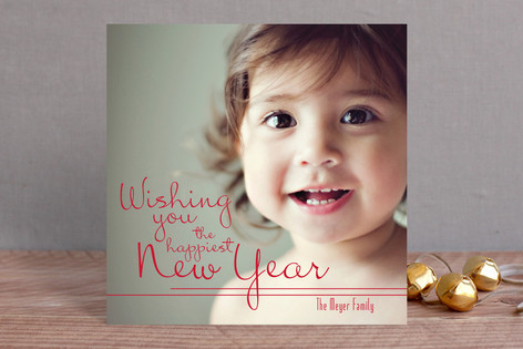 The Happiest Smile New Year Photo Cards