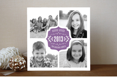 Bonne Annee Seal 2013 New Year Photo Cards