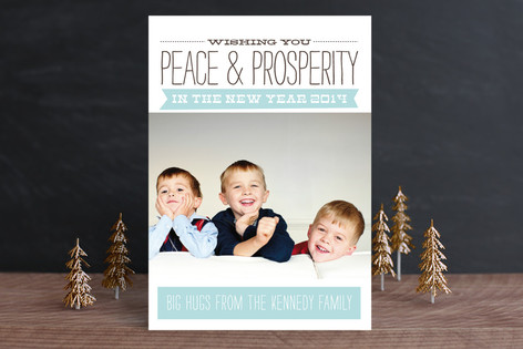 Peace & Prosperity New Year Photo Cards