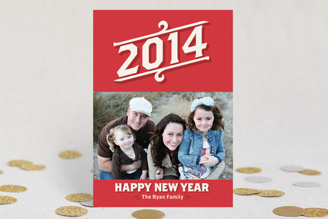 Vintage Beginnings New Year Photo Cards