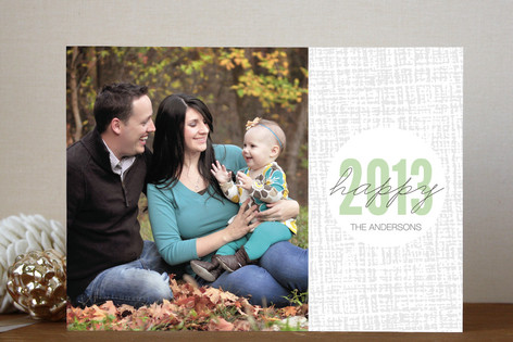 Plaid Dot New Year New Year Photo Cards