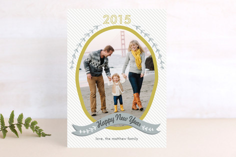 Olive Branch New Year Photo Cards