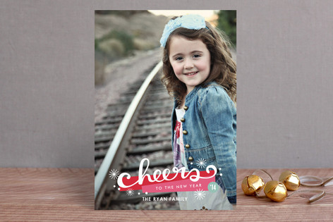 New Year's Cheers New Year Photo Cards