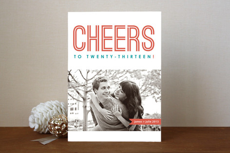 Mighty Cheers New Year Photo Cards