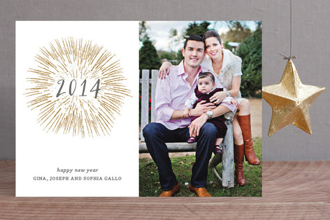 Fireworks New Year Photo Cards