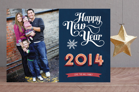 Typographic New Year Photo Cards