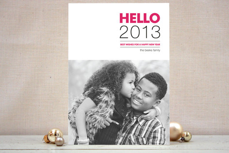 Hello New Year Photo Cards