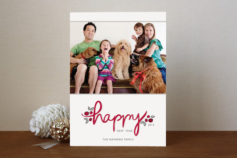 Berry Happy New Year Photo Cards