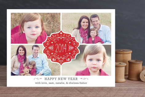 Festive Joy New Year Photo Cards